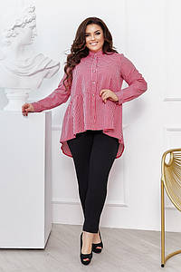 """Брючный женский костюм """"МАДРИД"""" с асимметричной блузой (большие размеры)"""