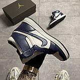 Nike Air Jordan 1 Retro Metallic Gold Obsidian (Синій), фото 3