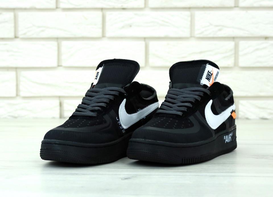 Мужские черные Кроссовки Nike Air Force Off White