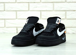 Мужские черные Кроссовки Nike Air ForceOff White