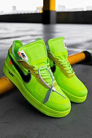 Мужские зеленые Кроссовки Nike Air ForceOff White