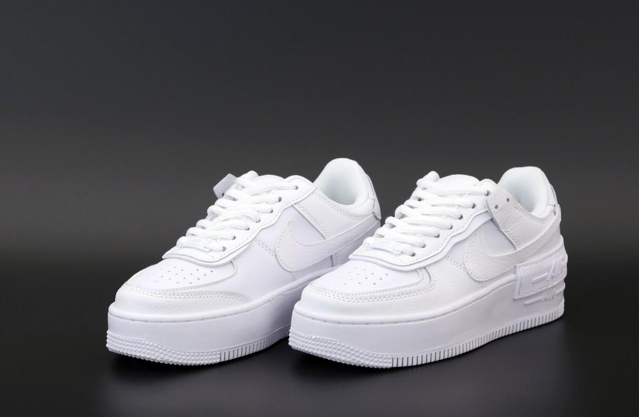 Чоловічі білі Кросівки Nike Air Force Shadow