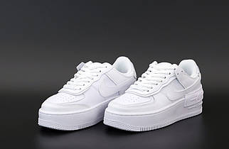 Мужские белые Кроссовки Nike Air Force Shadow