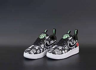 Мужские черные Кроссовки Nike Air Force 1