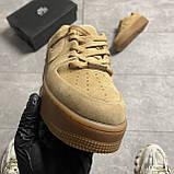Nike Air Force 1 Sage Low Club Gold (Коричневый), фото 6