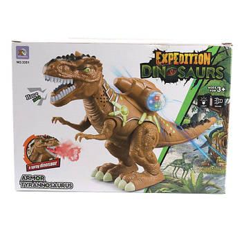 Интерактивный Динозавр 3351 яркая цветовая гамма, ходит, светится, издает звуки.