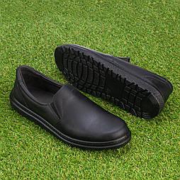 Мужские кожаные туфли Tellus 05-11B черные