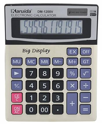 Калькулятор настольный бухгалтерский Karuida DM-1200V, фото 2