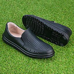 Мужские кожаные туфли Tellus 05-12B черные