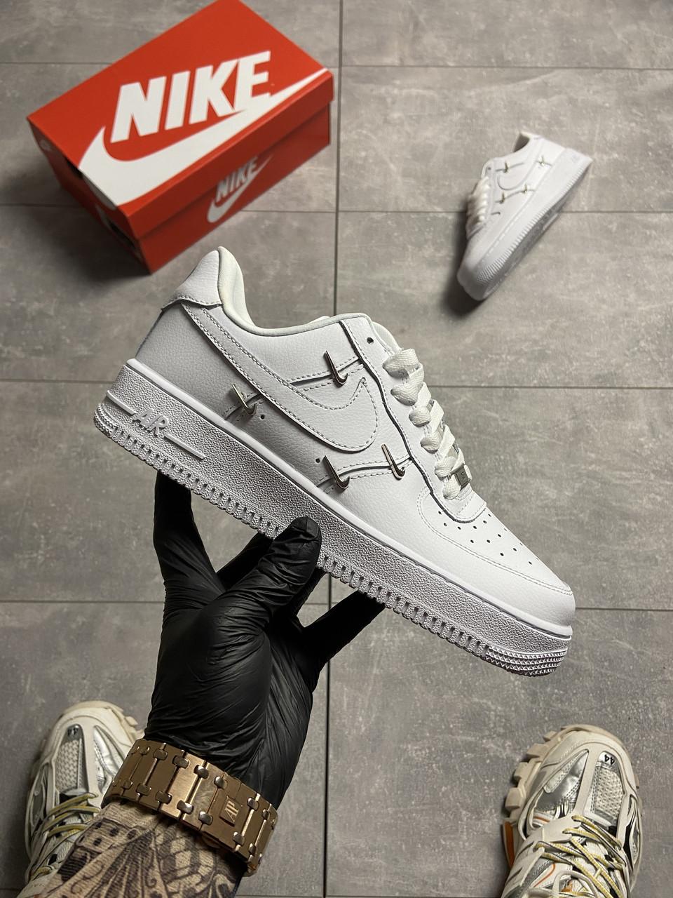 Nike Air Force 1 LX Chrome Swooshes White (Белый)