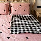 Комплект постельного белья KrisPol «Сердечки на розовом» 200x220 Сатин, фото 2