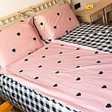Комплект постельного белья KrisPol «Сердечки на розовом» 200x220 Сатин, фото 3