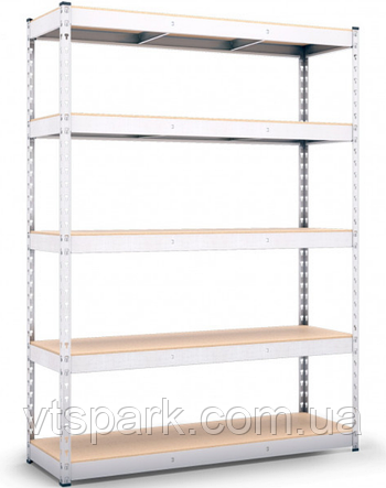 Стеллаж полочный 2160х1200х400мм, 400кг,5 полок ДСП оцинкованный, стеллаж для магазина, гаража, кладовки