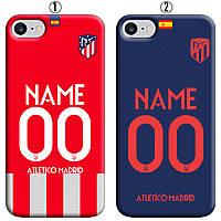 Именной чехол на IPhone 7/8/SE2 Атлетико Мадрид