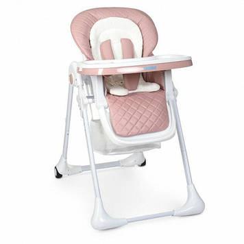 Детский стульчик для кормления, регулируется спинка, высота Розовый стульчик для прикорма для девочки от 6 мес