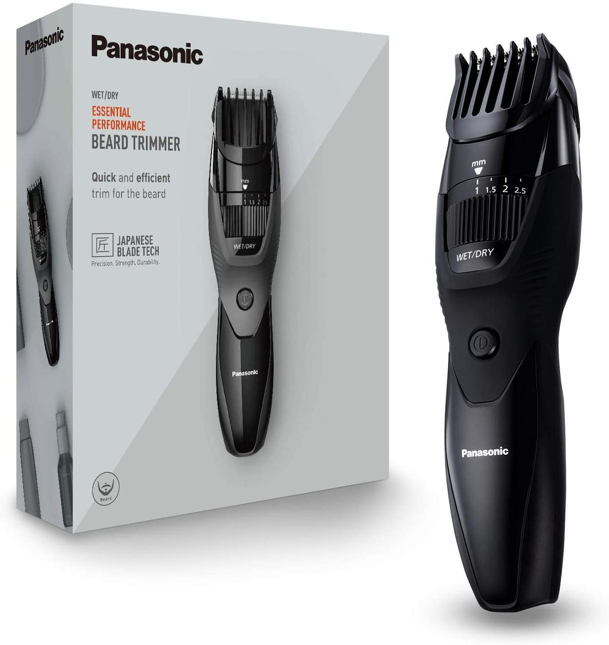Тример Panasonic ER-GB43 з 19 налаштувань довжини (0,5-10 мм), включаючи зарядну станцію чорний