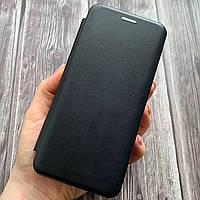 Чехол книга для Huawei Y6 2019 с эко кожи с подставкой магнитом книжка на телефон хуавей у6 2019 черная STN
