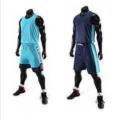 Баскетбольная форма двух-стороняя ElitSport Vivat (синяя/желтая) 2XL