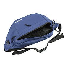 Бананка на пояс поясна сумка текстиль INSPIRED Синя (716661)