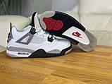 Мужские белые кроссовки Nike Air jordan 4 Найк Аир Джордан 4, фото 3