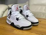Мужские белые кроссовки Nike Air jordan 4 Найк Аир Джордан 4, фото 4