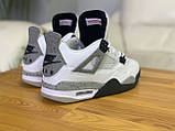 Мужские белые кроссовки Nike Air jordan 4 Найк Аир Джордан 4, фото 5