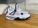 Мужские белые кроссовки Nike Air jordan 4 Найк Аир Джордан 4, фото 2