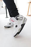 Мужские белые кроссовки Nike Air jordan 4 Найк Аир Джордан 4, фото 7