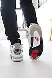 Мужские белые кроссовки Nike Air jordan 4 Найк Аир Джордан 4, фото 8