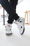 Мужские белые кроссовки Nike Air jordan 4 Найк Аир Джордан 4, фото 9