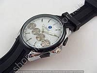 Часы BMW 013590 мужские серые на белом циферблате черный ремешок копия, фото 1