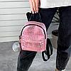 Блискучий жіночий міні рюкзак, фото 6