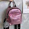 Блискучий жіночий міні рюкзак, фото 4