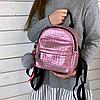 Блискучий жіночий міні рюкзак, фото 2