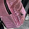 Блискучий жіночий міні рюкзак, фото 5