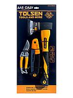 Набор инструментов для сада (топор, пила, секатор), Tolsen