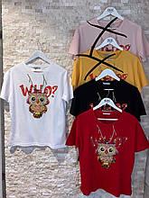 Женские стильные футболки с Совушкой Турция