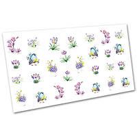 Слайдер-дизайн (водные наклейки, фотодизайн) для ногтей Цветы №1693