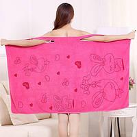 Женский халат бабочка. Полотенце для бани, сауны, пляжное платье. Высоковлаговпитывающая микрофибра.