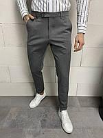 Классические серые мужские брюки, фото 1