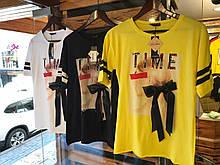 Женские стильные футболки с бантом Турция