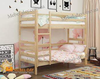 Кровать двухъярусная деревянная трансформер Соня МФ Wellmebely