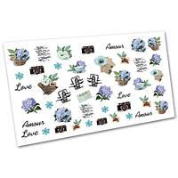 Слайдер-дизайн (водные наклейки, фотодизайн) для ногтей Цветы №1705