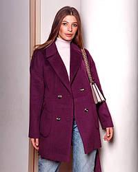Пальто-пиджак женское демисезонное шерстяное, оверсайз, 1362| 40, 42, 44, 46, 48 размеры