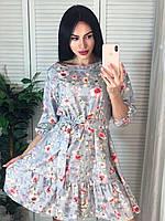 Повседневные платья - 125 - Красивое женское молодежное короткое платье в цветочек