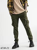 Штани карго хакі стрейчеві чоловічі Caleb 6510-21, фото 1