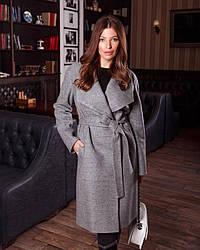 Пальто женское демисезонное шерстяное, с шалевым воротником 1360 | 42, 44, 46, 48, 50, 52 размеры