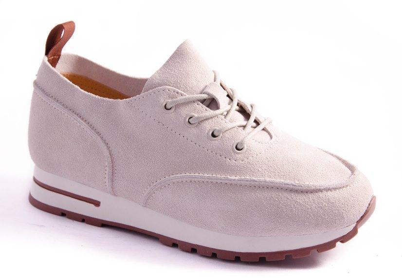 Кроссовки женские бежевые All Shoes 8801