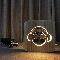 Нічник світлодіодний LED дерев`янийдитячий