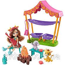 Набор Enchantimals Пикник в Саваннеи кукла Гризельда Жираф GTM33